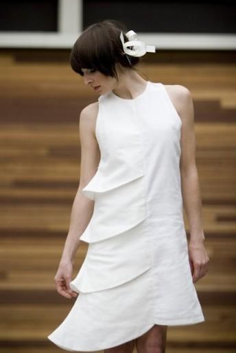 Asymmetrical Tiered Dress by Liza Rietz