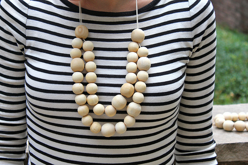 DIY Wooden Necklace via You Are My Fave